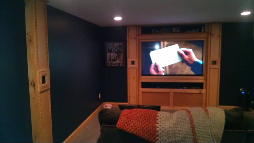 basement-tv-woodwork-lighting