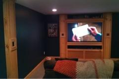 basement-tv-woodwork-lighting